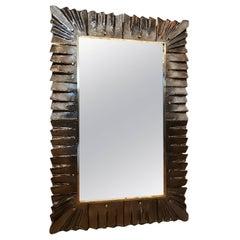 Modern Amber Murano Glass Mirror
