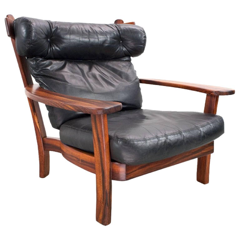 Mid-Century Modern Lounge Chair in Leather Model Ox, 1960s