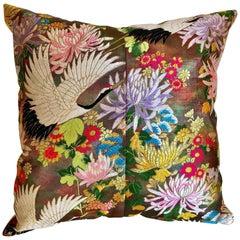 Custom Pillow Cut from a Japanese Vintage Silk Uchikake Wedding Kimono