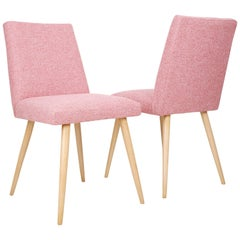 Pair of Two 20th Century Baby Pink Chairs, 1960s, Poland