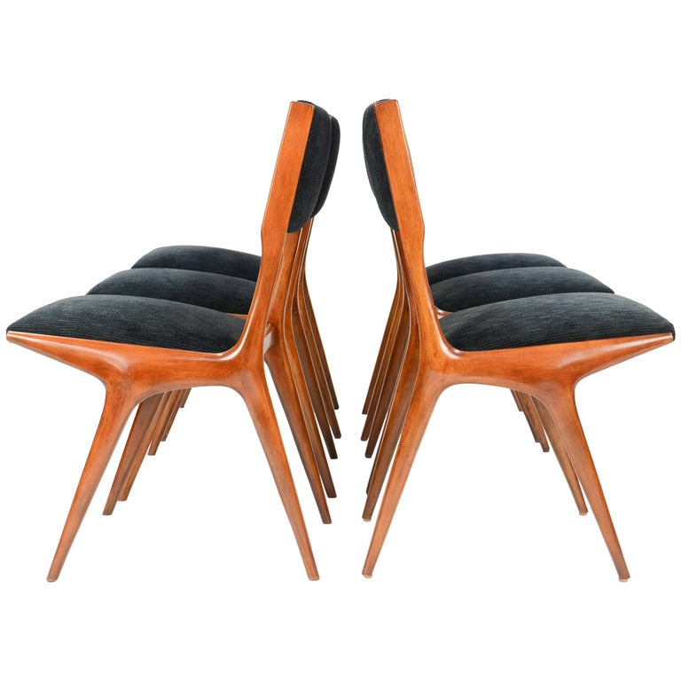 Set of Six Carlo di Carli Dining Chairs for Singer and Sons
