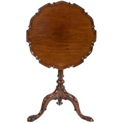 George III Mahogany Tilt Top Tea Table