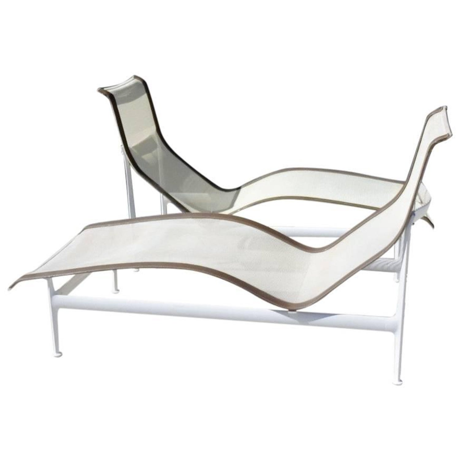 Pair of richard schultz knoll 1966 leisure group chaise lounges at 1stdibs