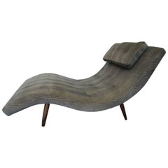 "Midcentury ""S"" Curve Newly Upholstered Two Person Lounge Chaise, A. Pearsall"