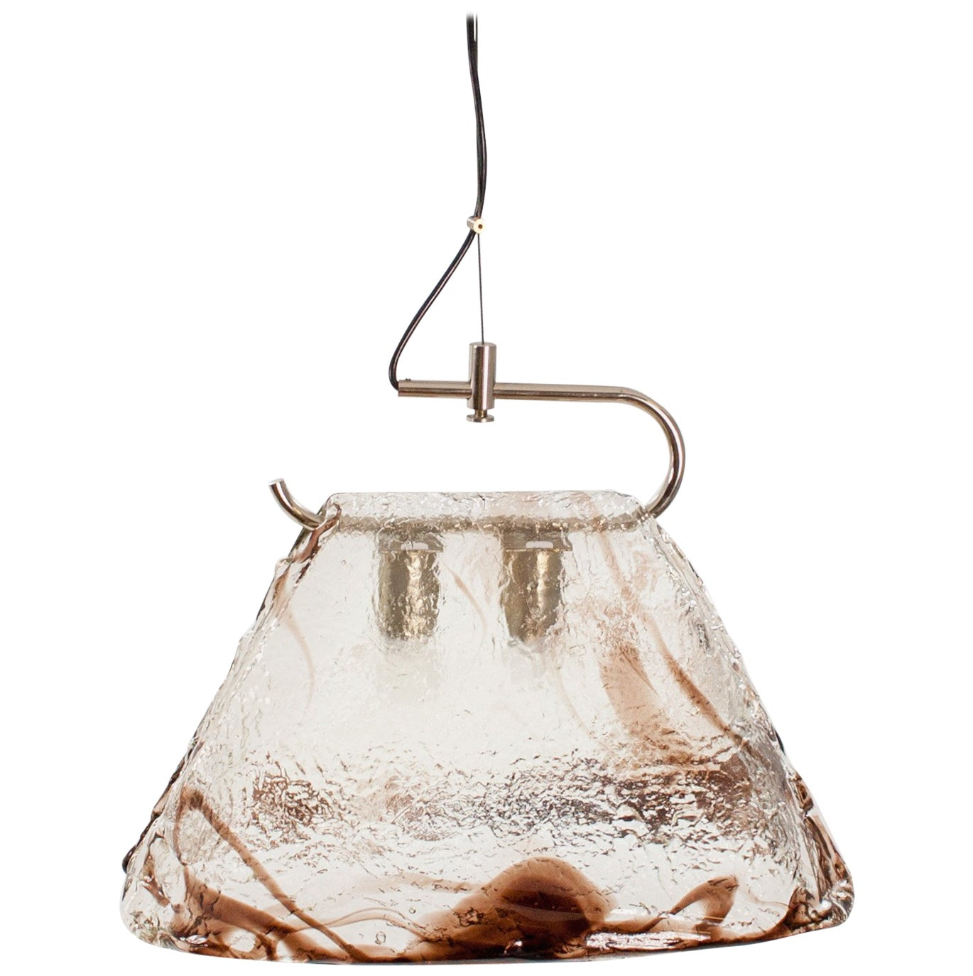 Murano Glass Pendant Lamp by Carlo Nason for Mazzega, 1970s