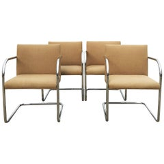 Set of Four Tubular Brno Chairs