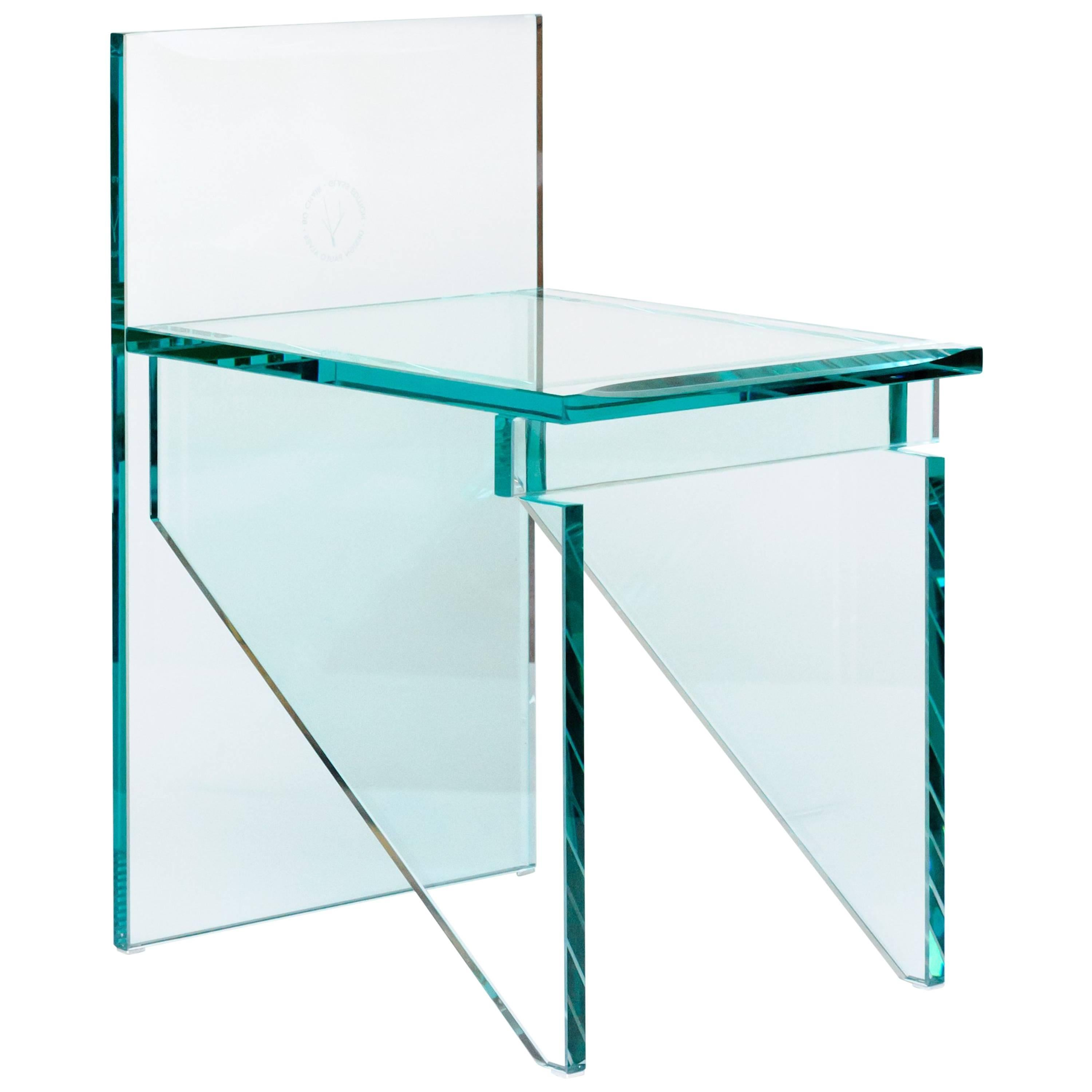 Contemporary Bo Glass Chair by Paulo Alves