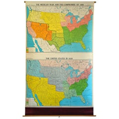 School Wall Map American History