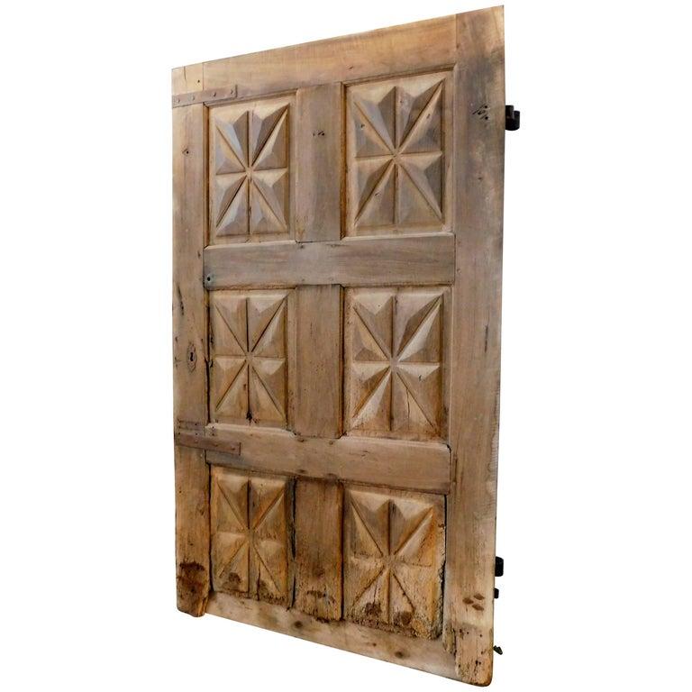 17th Century Entry Door Made of Walnut