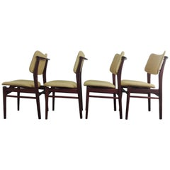 Set Mid-Century Modern Teak Dining Chairs, 1960s