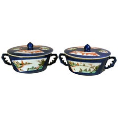 Chinese Verte Porcelain Sauce Tureens and Covers, Kangxi, circa 1720