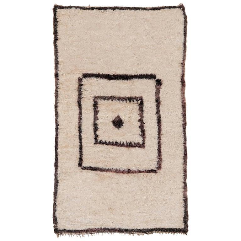 Mid-Century Modern Beni Ouarain Berber Rug