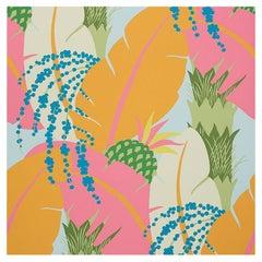Schumacher Paul Poiret Ananas Tropical Floral Botanical Wallpaper, Two Roll Set