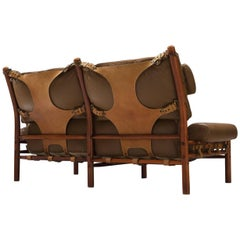 Arne Norell 'Inca' Sofa with Cognac Buffalo Leather