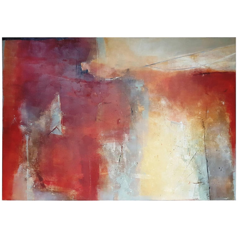 """21st Century Painting by Anton Weiss Titled """"Abstract"""" Oil on Canvas"""