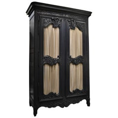 Regency Style Normandy Armoire
