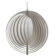 White Verner Panton Op-Art Moon Lamp Visor Lamp, Louis Poulsen, Denmark, 1960s