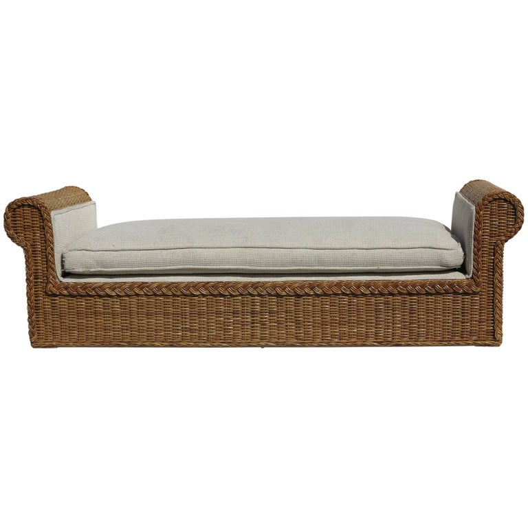 Cane Daybed Rattan Works of Atlanta, 1980s
