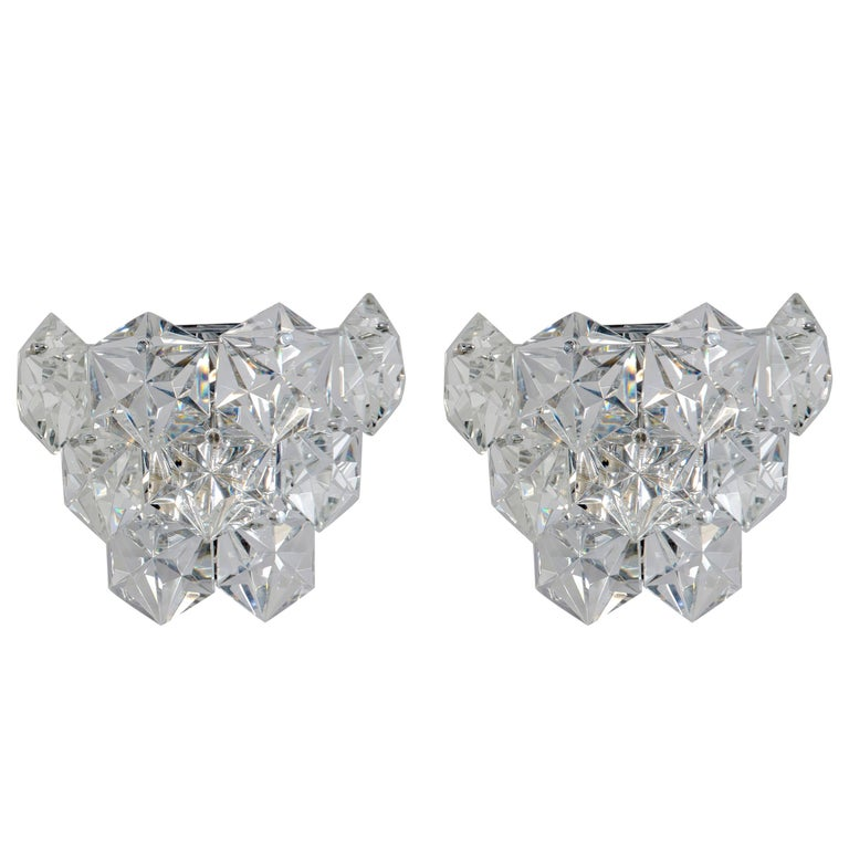 Pair of Kinkeldey Austrian Crystal Sconces