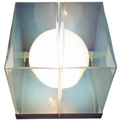 Mid-Century Modern Lamp by Carlo Nason for Mazzega in Opalescent Murano Glass