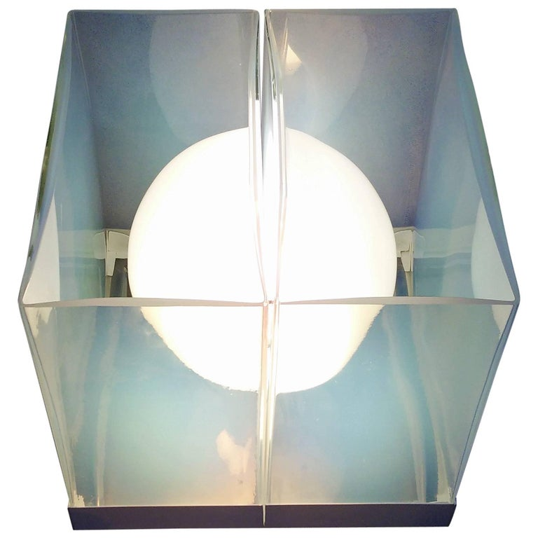 Mid-Century Modern Lamp by Carlo Nason for Mazzega in Opalescent Murano Glass