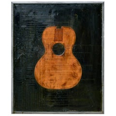 Iconic Guitar Cast in Resin Decorative Painting, 2009