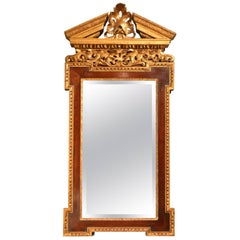 18th Century Palladian Mahogany and Parcel Gilt Mirror