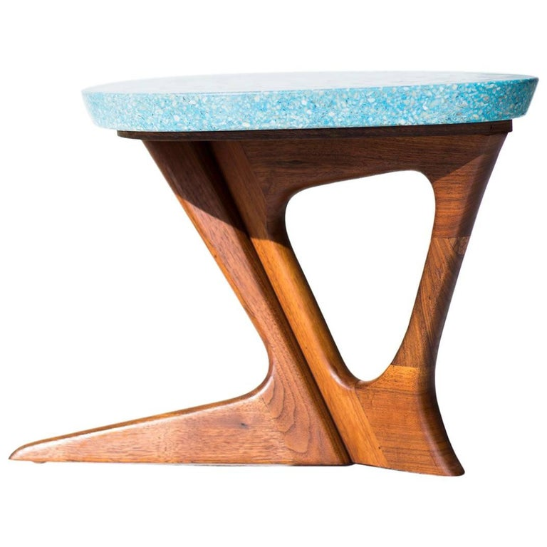 Harvey Probber Attributed Terrazzo Side Table