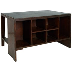Exceptional Chandigarh Pigeonhole Desk by Pierre Jeanneret, France/India c. 1957