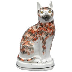 Staffordshire Large Pottery Cat, circa 1850