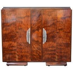 Art Deco Burl Wood Cabinet