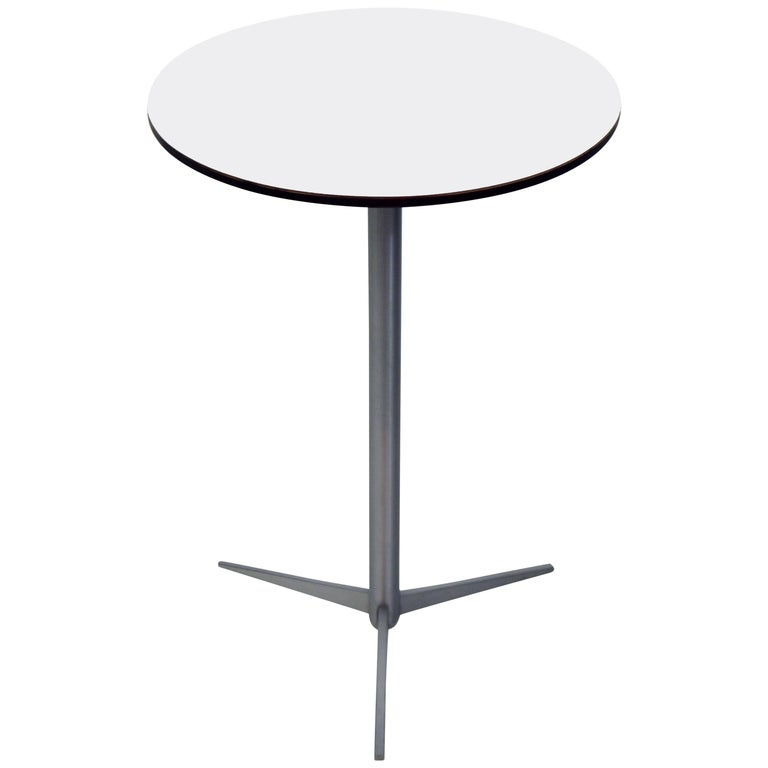 Thonet Brushed Aluminum Drink Table For Sale
