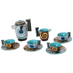 Italian Futurist Tea Set Diulgheroff & d'albisola for Torido Mazzotti