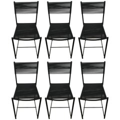 "Set of Six Postmodern ""Spaghetti"" Dining Chairs, Giandomenico Belotti for Alias"