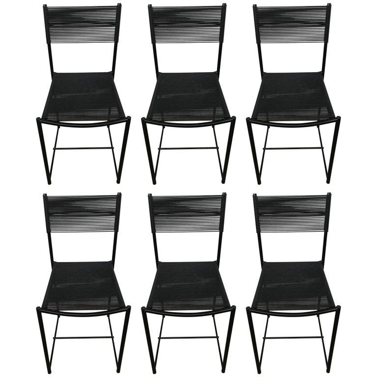 "Set of Six Postmodern ""Spaghetti"" Dining Chairs, Giandomenico Belotti for Alias"