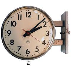 Faraday Round Double Sided Wall Clock