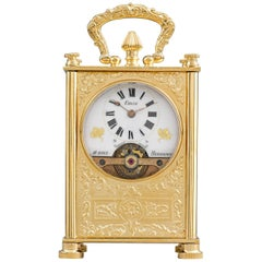 19th Century 8-Day Swiss Carriage Clock
