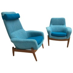 Lady & Senior Chair by Madsen & Schubel Bovenkamp Wool Hallingdal Nana Ditzel