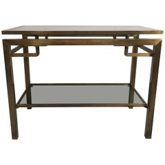 Vintage French Gilt Brass Console Table/Side Table