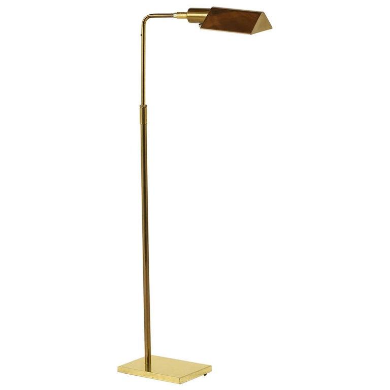 Koch & Lowy Brass Floor Lamp