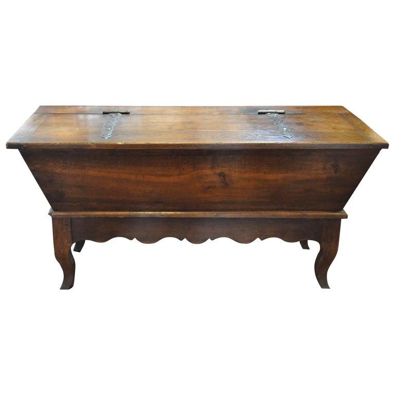 19th Century French Provincial Oak Dough Box