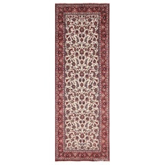 Antique Wide Hallway Gallery Size Persian Isfahan Rug