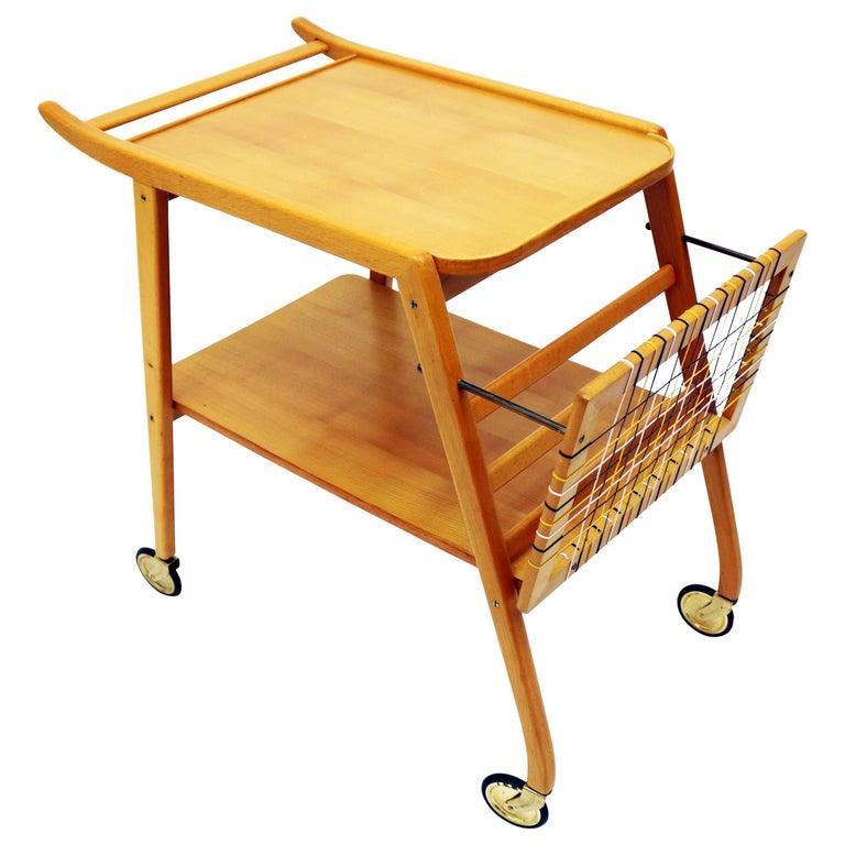 Midcentury Swedish Breakfast Cart For Sale