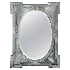 1940's Hollywood Regency Venetian Mirror with Exquisite Shield Design