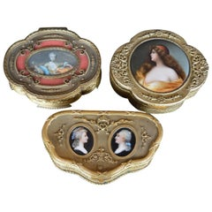 Set of Three 19th Century French Boxes