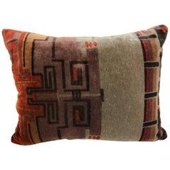 Custom Pillow Cut from an Amsterdam School Textile, Netherlands, 1915-1927