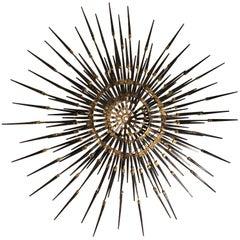 Signed Mid-Century Modern Starburst Sculpture