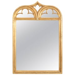 American Gothic Style Gold Painted Wall Mirror, 19th-20th Century