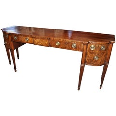 Period Early 19th Century Federal Mahogany Sideboard of Narrow Depth