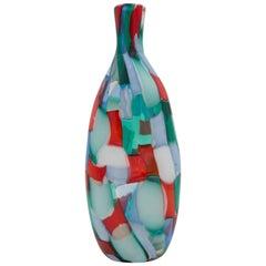 Vintage Fulvio Bianconi for Venini Murano Pezzato Vase